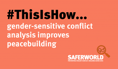 This is how gender-sensitive conflict analysis improves peacebuilding