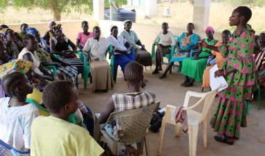 Increasing women's participation in community-based peace and security structures
