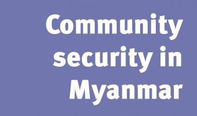 Community security in Myanmar cartoon booklet