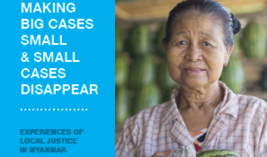 Making big cases small and small cases disappear: experiences of local justice in Myanmar